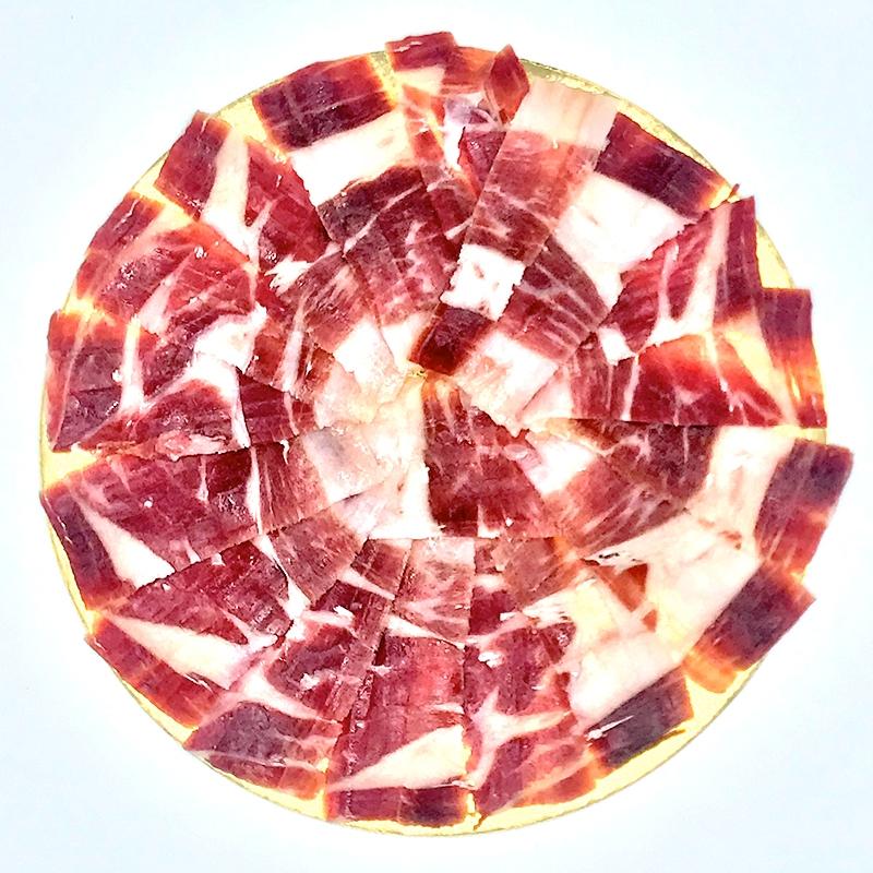 Pata Negra, Jamon 100% Iberico de Bellota, een handgesneden gedroogde Spaanse ham uit Jabugo Spanje Online bestellen Webshop