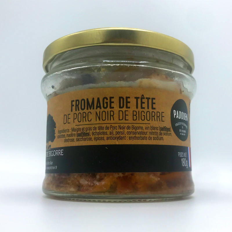 Franse Fromage du tete Terrine van kopvlees van Noir de Bigorre Frankrijk