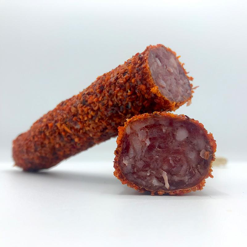 Fuet Pimenton spaanse droge worst met een mantel van gedroogde paprika online bestellen